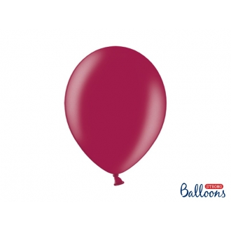 Balony Strong 30cm, Metallic Maroon, 100szt.