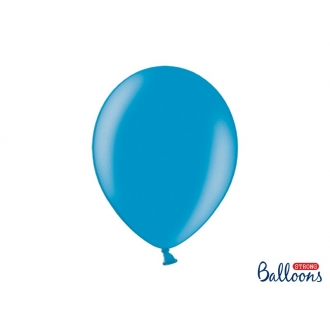 Balony Strong 30cm, Metallic Caribb. Blue, 10szt.