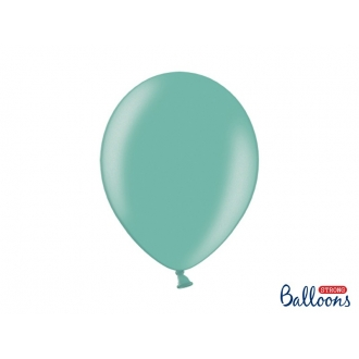 Balony Strong 30cm, Metallic Aquamarine, 10szt.