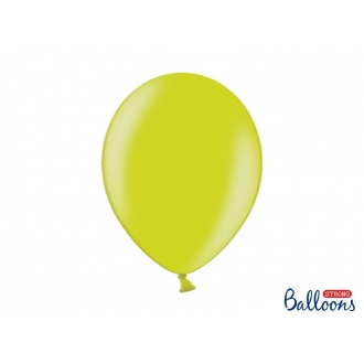 Balony Strong 30cm, Metallic Lime Green, 10szt.
