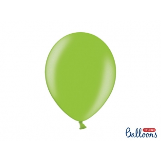 Balony Strong 30cm, Metallic Bright Green, 50szt.