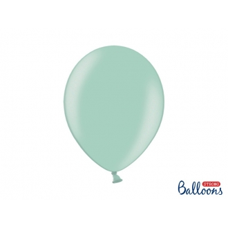 Balony Strong 30cm, Metallic Mint Green, 50szt.