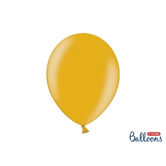 Balony Strong 30cm, Metallic Gold, 10szt.