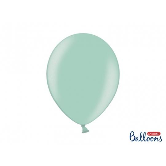 Balony Strong 30cm, Metallic Mint Green, 10szt.