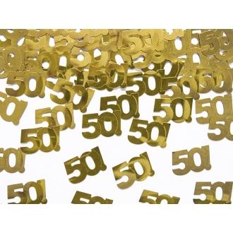 Konfetti metalizowane, liczba 50, 15g, 1op.