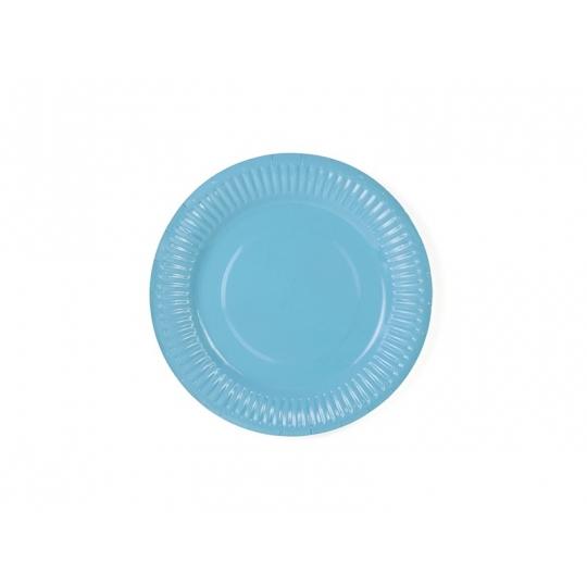 Talerzyki, błękit, 18cm, 1op.