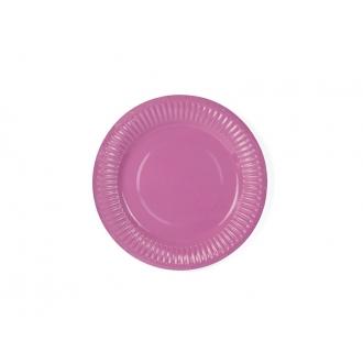 Talerzyki, różowy, 18cm, 1op.
