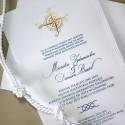 Zaproszenie w Stylu Marynarskim z Różą Wiatrów F1223