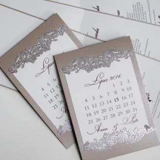 Zaproszenia w Formie Kartki z Kalendarza F1237p