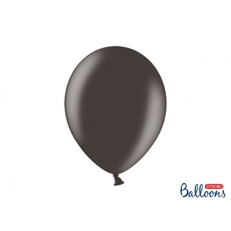 Balony Strong 30cm, Metallic Black, 10szt.