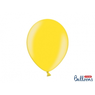 Balony Strong 30cm, Metallic Lemon Zest, 10szt.