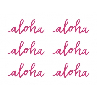 Dekoracje papierowe Aloha, fuksja, 5x12,5cm, 1op.