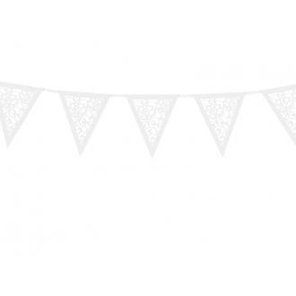 Girlanda papierowa, perłowy, 19,5 x 3m, 1szt.