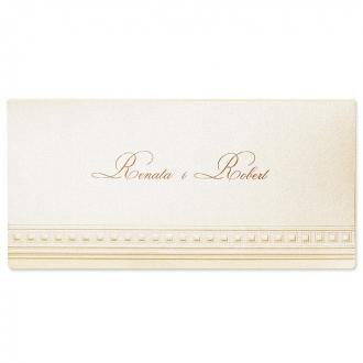 Zaproszenia Ślubne z Tłoczeniami w Kolorze Perłowym F1185tz