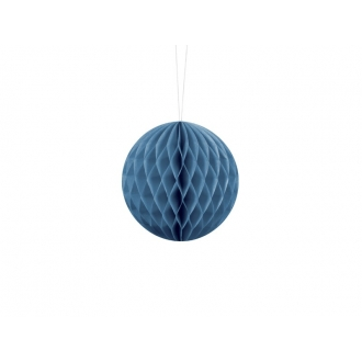 Kula bibułowa, niebieski, 10cm, 1szt.
