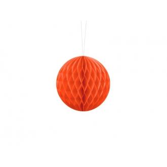 Kula bibułowa, pomarańcz, 10cm, 1szt.