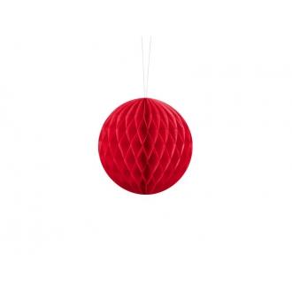 Kula bibułowa, czerwony, 10cm, 1szt.