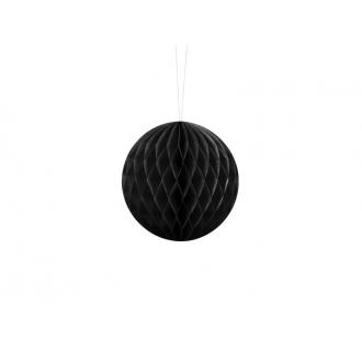 Kula bibułowa, czarny, 10cm, 1szt.