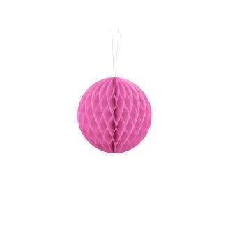 Kula bibułowa, różowy, 10cm, 1szt.