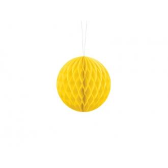 Kula bibułowa, żółty, 10cm, 1szt.