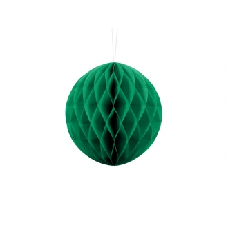 Kula bibułowa, sz. zielony, 20cm, 1szt.