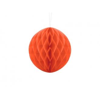 Kula bibułowa, pomarańcz, 20cm, 1szt.