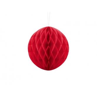 Kula bibułowa, czerwony, 20cm, 1szt.