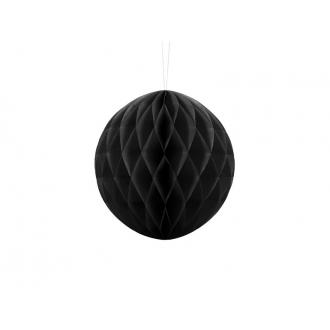 Kula bibułowa, czarny, 20cm, 1szt.