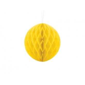 Kula bibułowa, żółty, 20cm, 1szt.