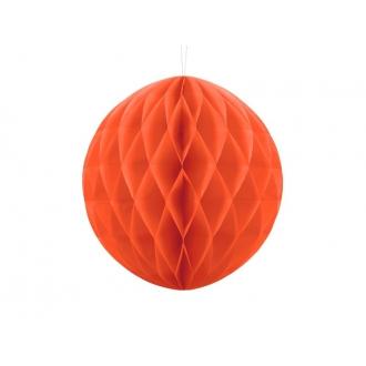 Kula bibułowa, pomarańcz, 30cm, 1szt.