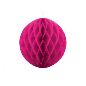 Kula bibułowa, c. różowy, 30cm, 1szt.