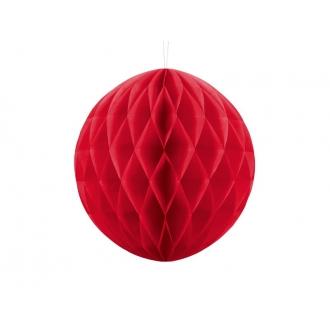 Kula bibułowa, czerwony, 30cm, 1szt.