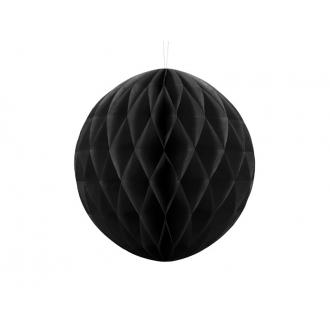 Kula bibułowa, czarny, 30cm, 1szt.
