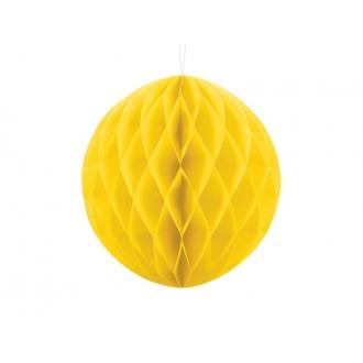 Kula bibułowa, żółty, 30cm, 1szt.