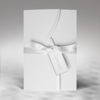 Zaproszenia Ślubne z Delikatnym Tłoczeniem F1189