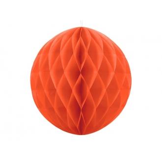Kula bibułowa, pomarańcz, 40cm, 1szt.
