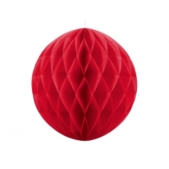 Kula bibułowa, czerwony, 40cm, 1szt.