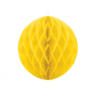 Kula bibułowa, żółty, 40cm, 1szt.