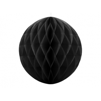 Kula bibułowa, czarny, 40cm, 1szt.