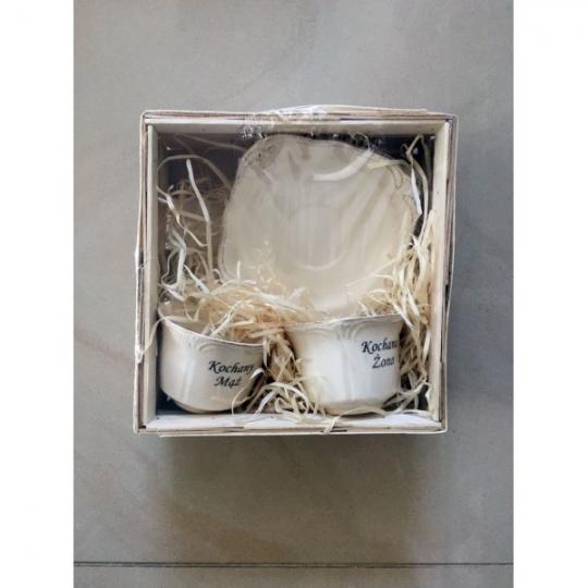 Zestaw Ceramiczny z nadrukiem 2/4 Kochanym Rodzicom