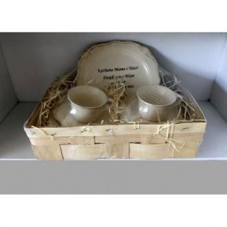 Duży zestaw ceramiczny 2/5 Kochana Mamo Kochany Tato
