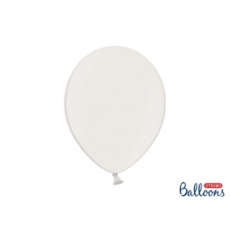 Balony Strong 30cm, Metallic Pure White, 10szt.