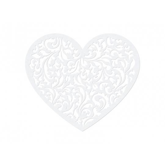 Dekoracje papierowe Serce, 12 x 10cm, 1op.