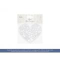Dekoracje papierowe Serce, 13,5 x 11,5cm, 1op.