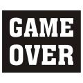 Naklejki na buty Game over, 1op.