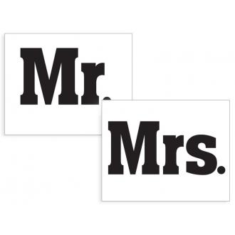 Naklejki na buty Mr./Mrs., 1op.