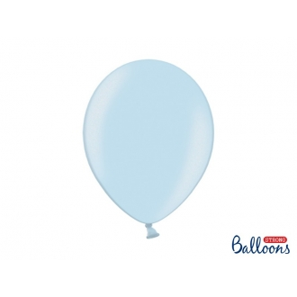 Balony Strong 30cm, Metallic Baby Blue, 100szt.