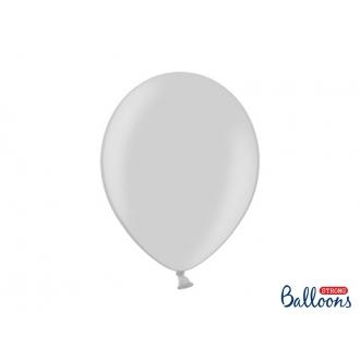 Balony Strong 30cm, Metallic Silver Snow, 20szt.