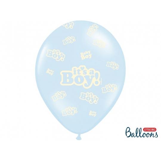 Balony 30cm, It's a Boy, Pastel Baby Blue, 50szt.