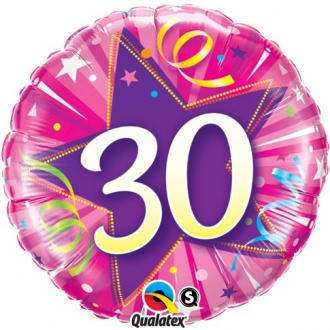 """Balon foliowy 18"""" QL CIR """"30, różowy"""" ST ASORT"""